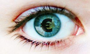 Euro im Auge