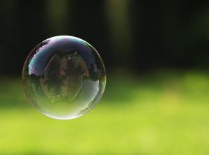 Hausfinanzierung Seifenblase